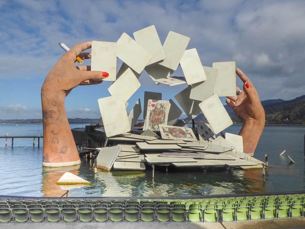 Stage set for the opera Carmen at the Bregenz Festival, Austria © Tamara D Muldoon