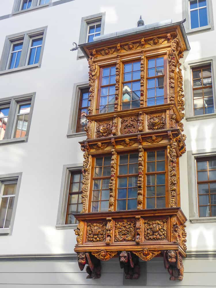 There are more than 100 decorative oriel windows in St. Gallen © Tamara D Muldoon