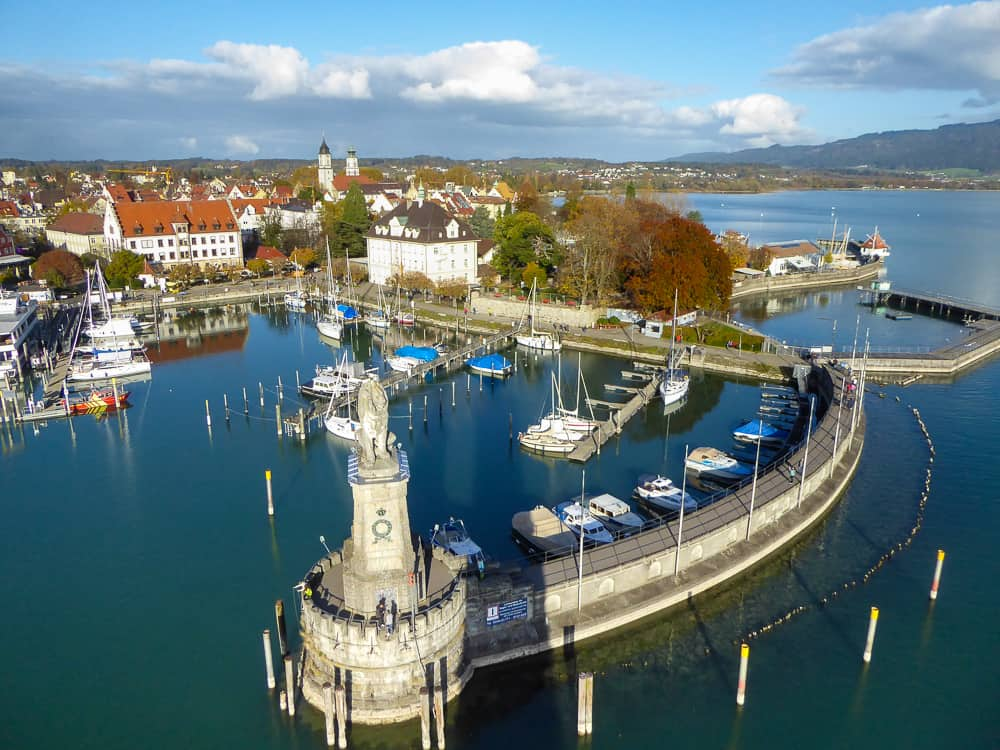 View of Lindau harbor from the lighthouse. © Tamara D Muldoon