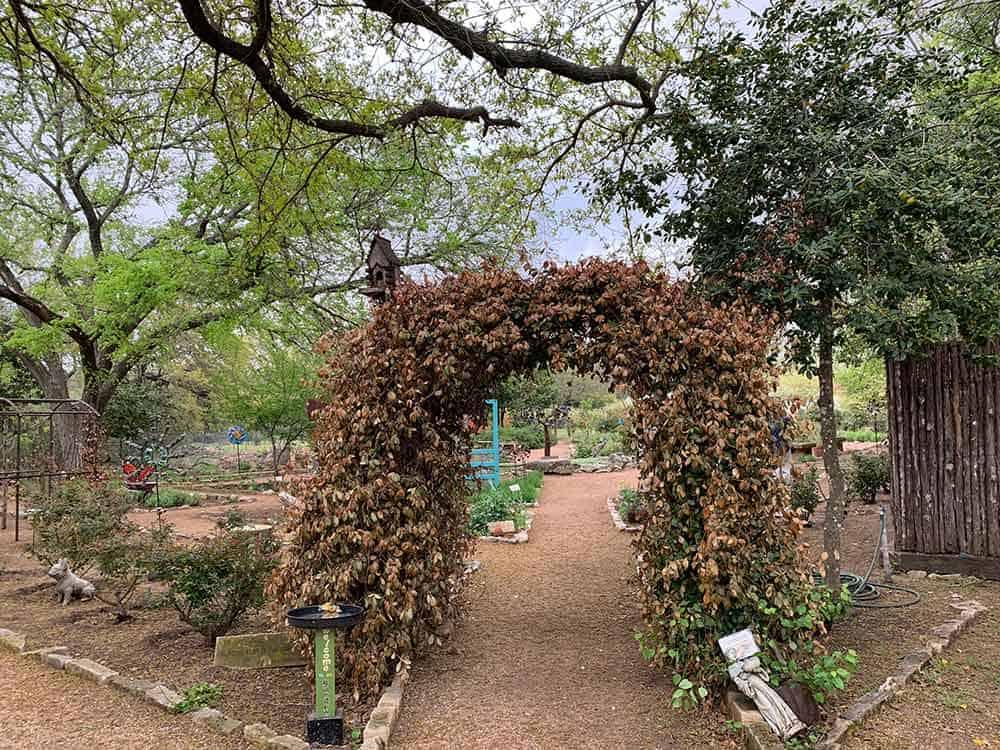 Fredericksburg Herb Garden entrance