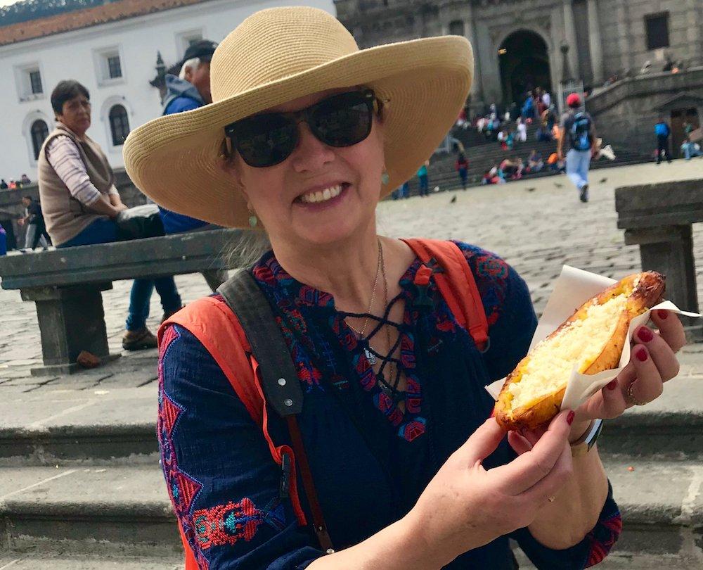 Plátanos con queso in Quito