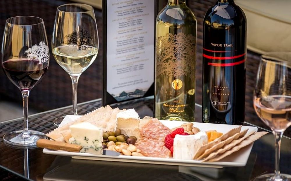 Wine and Charcuterie Pairing at Oak Farm Vineyards