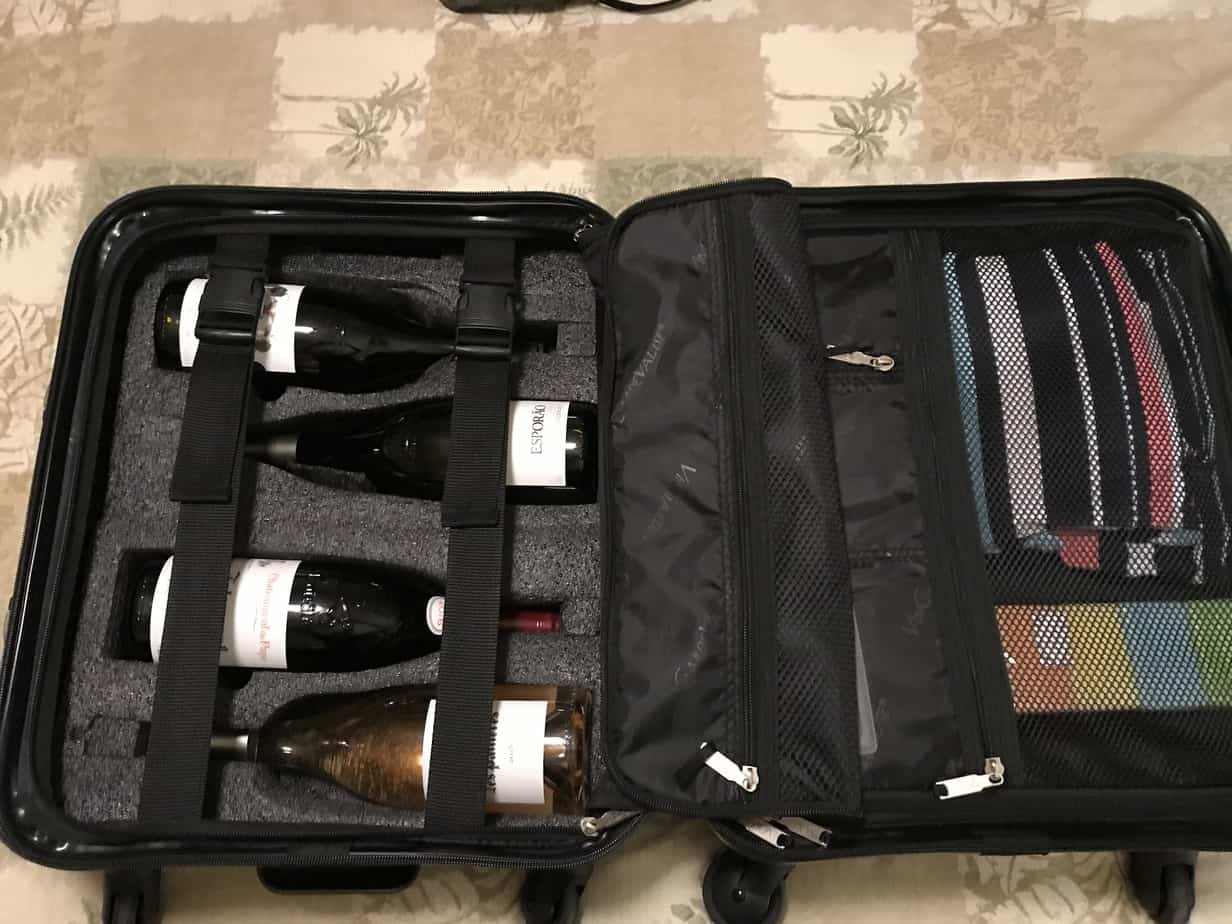 wine suitcase for wine lovers