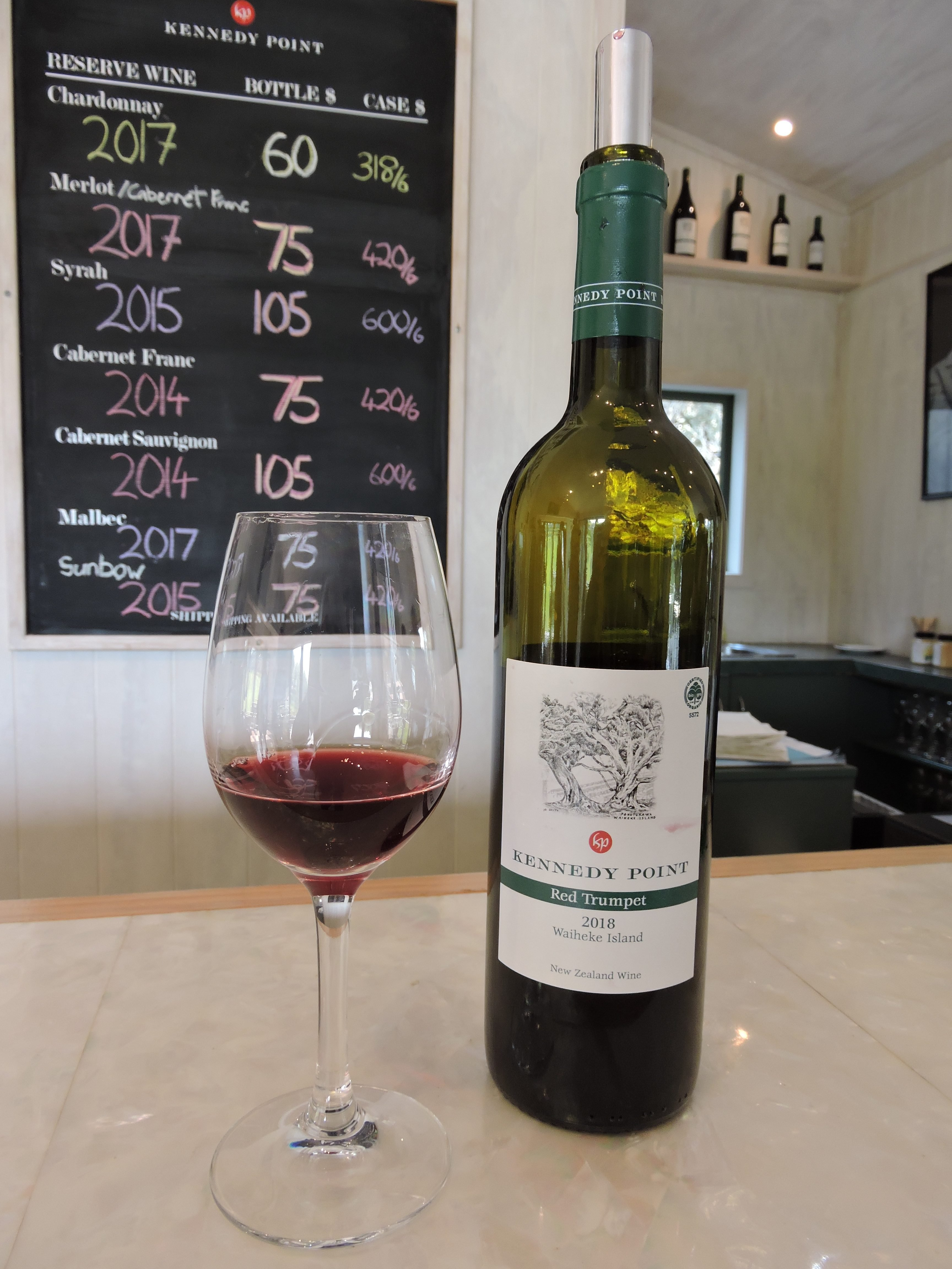 Image of Kennedy Point Red Trumpet wine