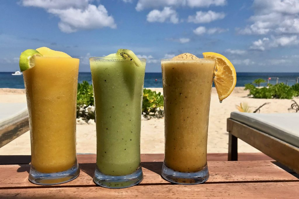 Mango, Kiwi and Passionfruit giant margarita's at The Cabana Beach