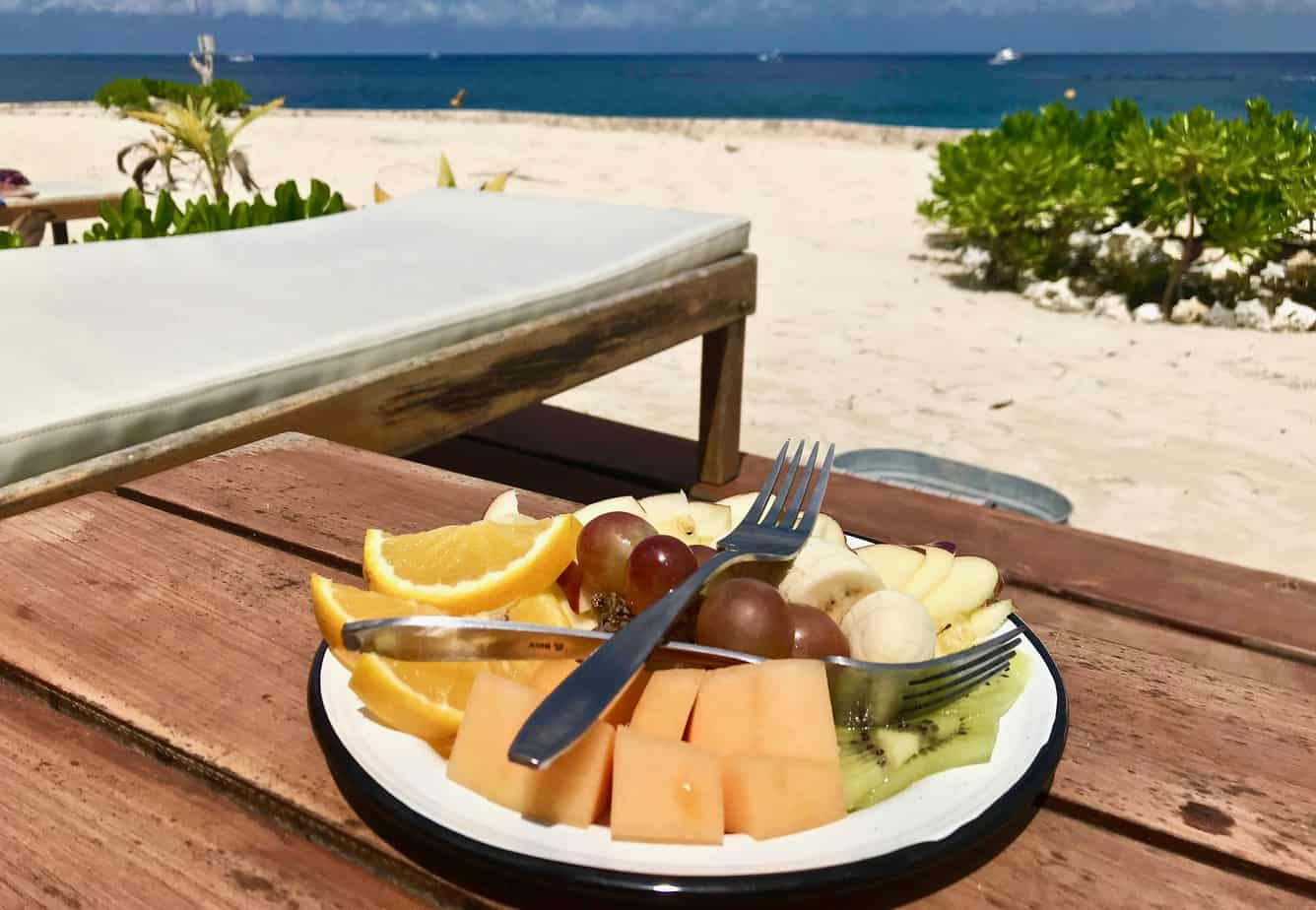 Luxury travel includes this succulent cold fresh tropical fruits in your welcome fruit platter.