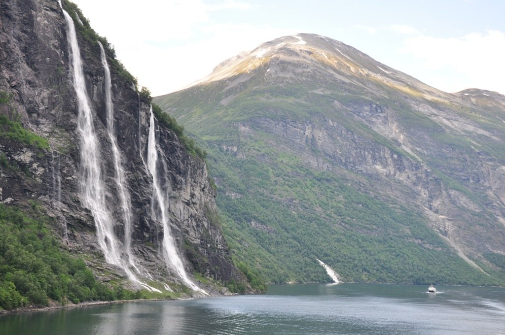 Seven Sisters in Geiranger Fjord Norway