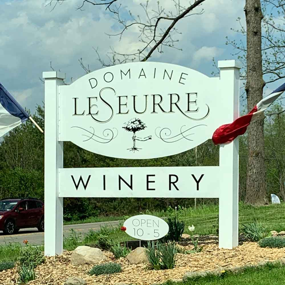 Domaine LeSeurre Winery sign