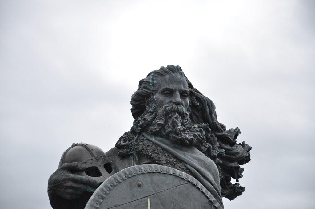 King Harald Fairhair statue in Haugesund Norway
