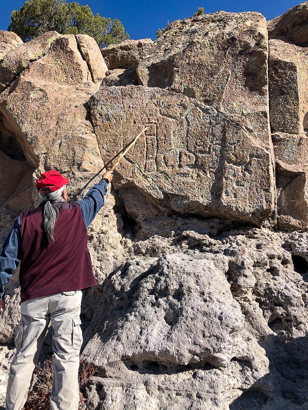 Petroglyphs at Badelier Monument, Santa Fe