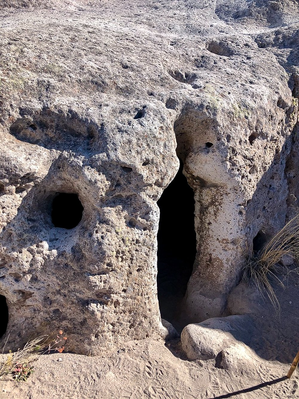 Ancient Native American dwelling at Bandelier Monument, Santa Fe