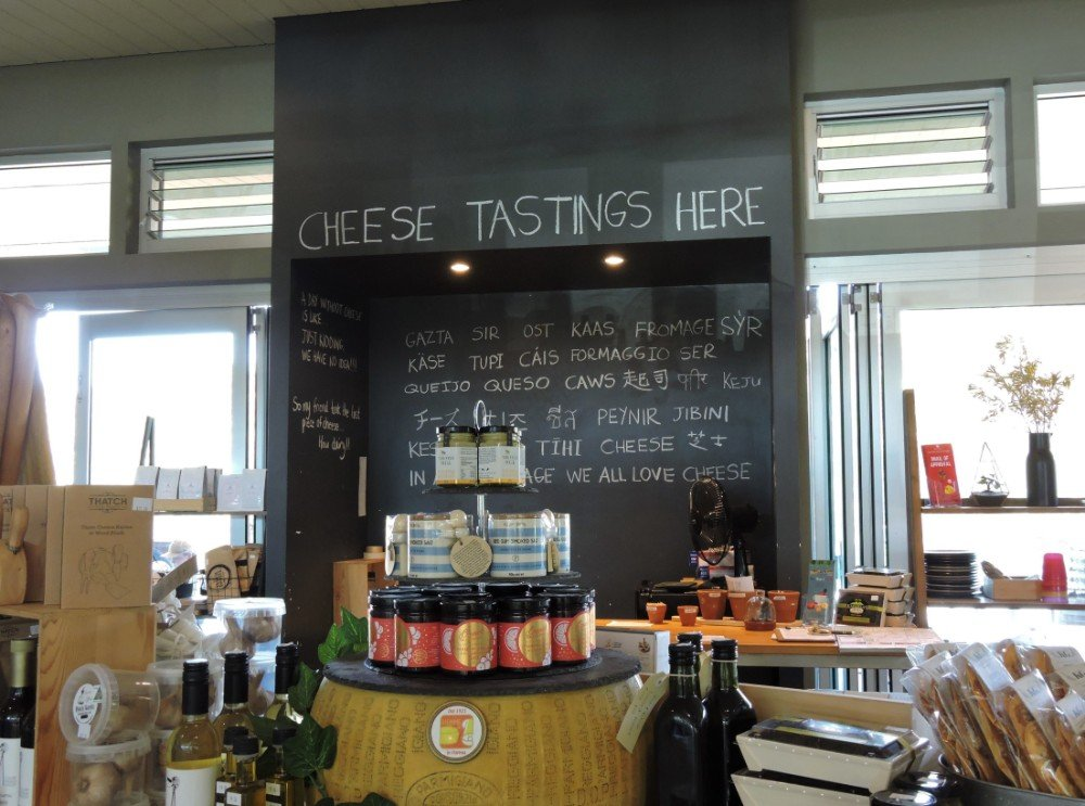 Inside Cheese Barrel shop and restaurant