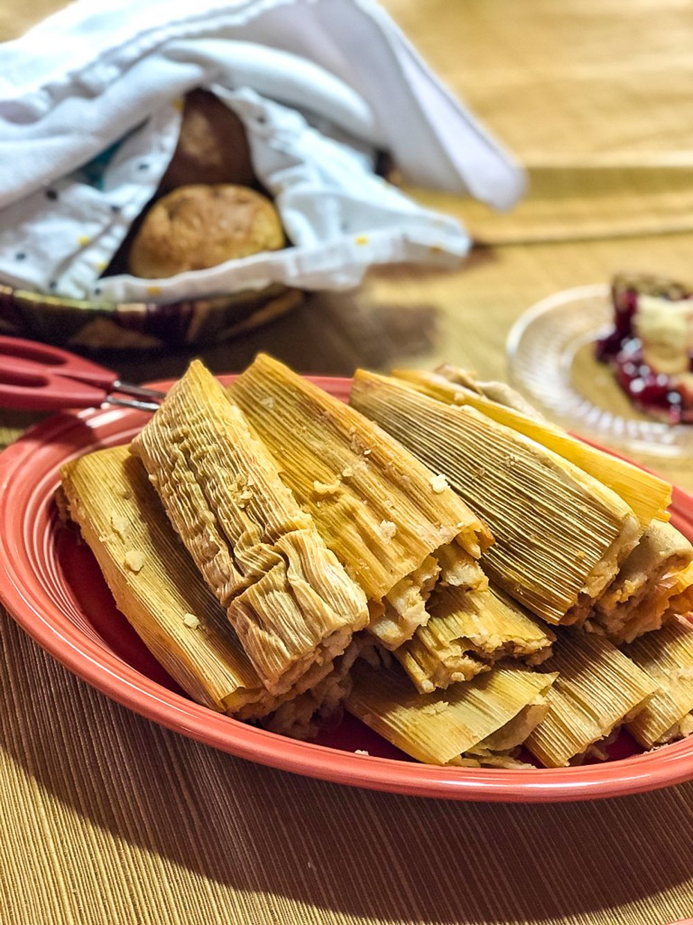 Tamales at a pueblo Feast Day