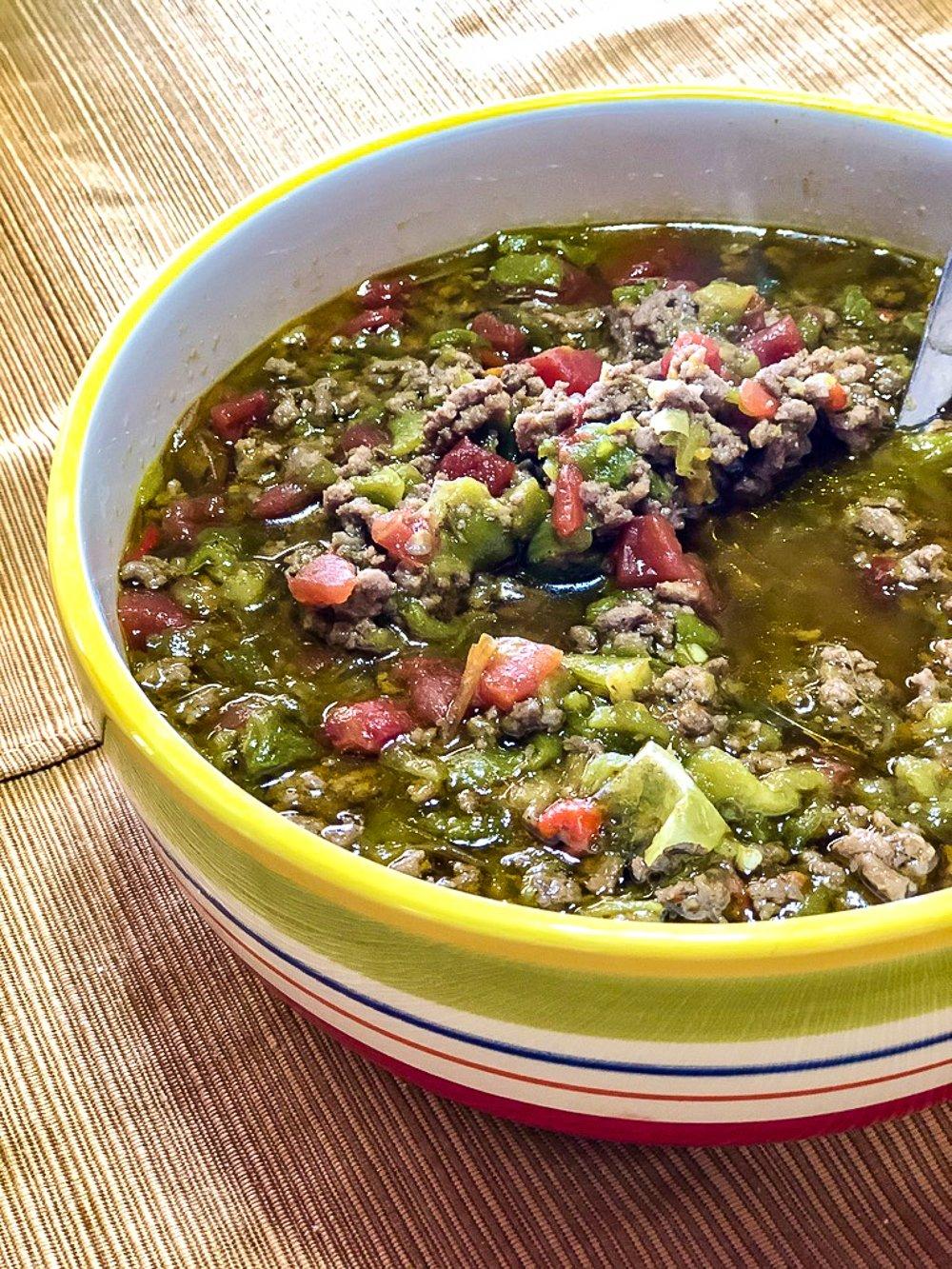 Pueblo Feast Days, Green Chile stew