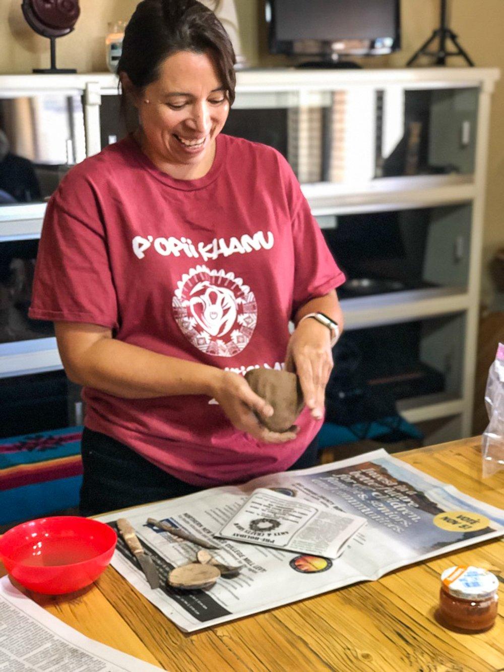 Pottery demonstration by Madeline Narango