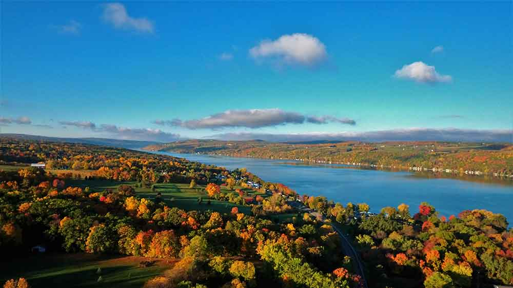 Keuka Lake in the fall