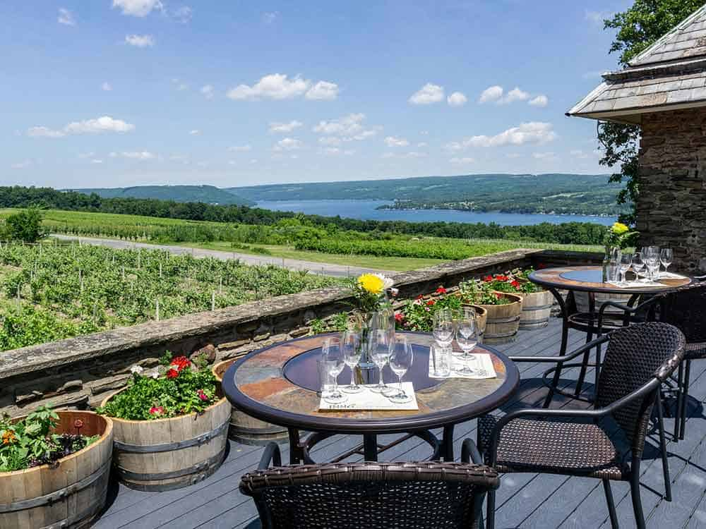 Overlooking Keuka Lake, Dr Frank winery