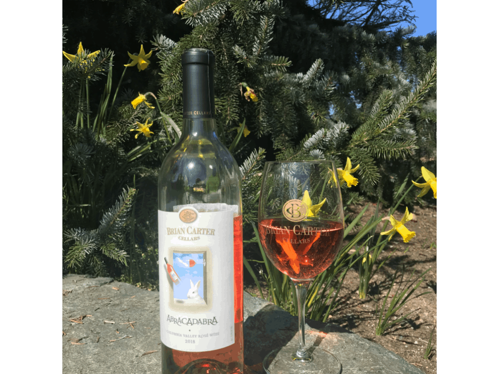 Bottle of rose wine from Brian Carter Cellars