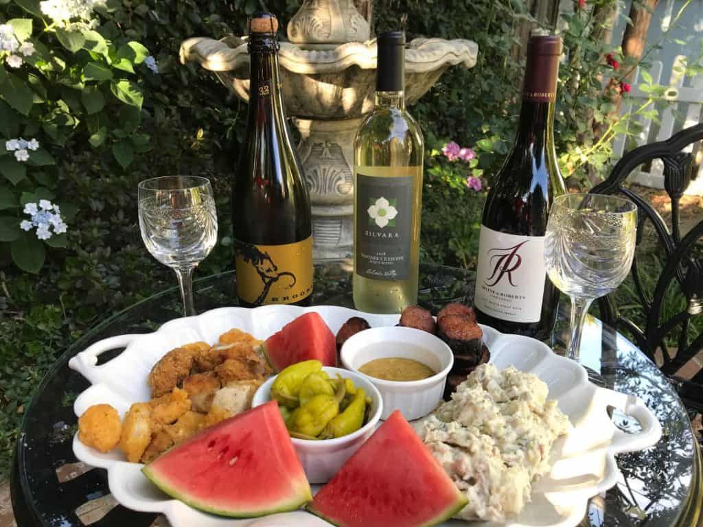 Picnic platter to accompany summer wines