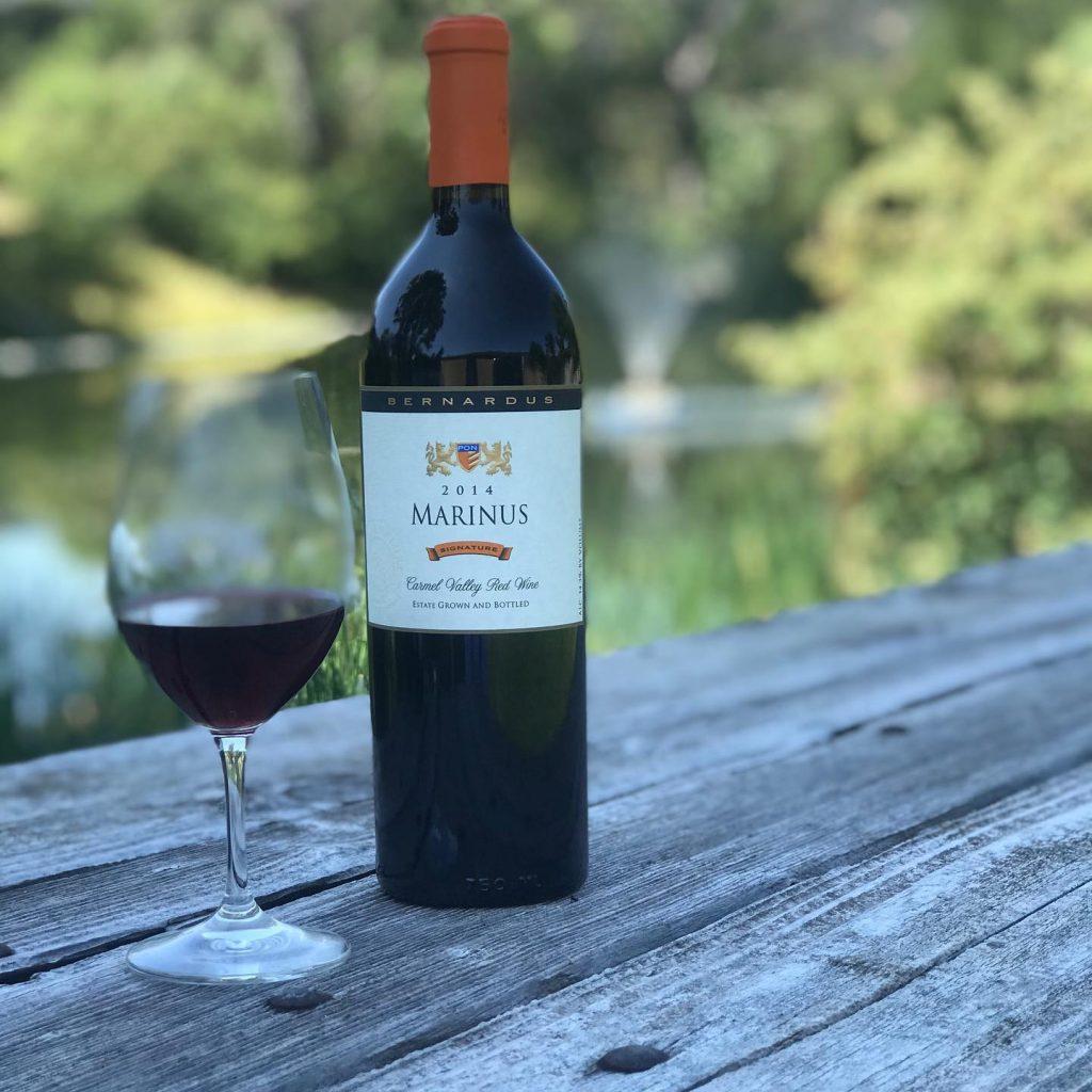 Bottle of Bernardus 2014 Marinus wine