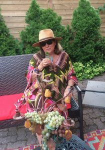 Judi Cohen with Basil Vodka Chiller