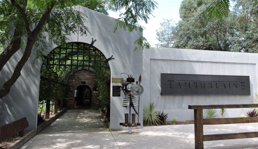 Image of the entrance to Tamburlaine Winery