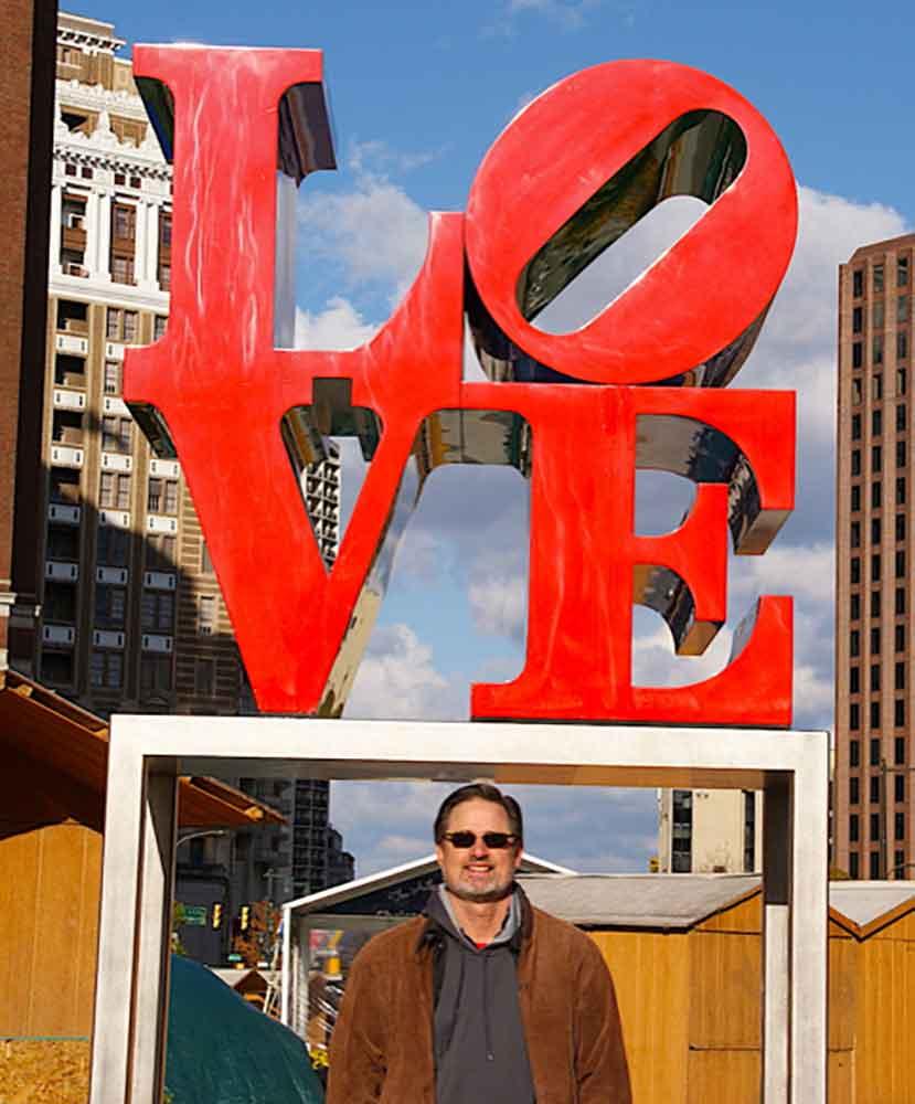 Scott Kendall at Love statue