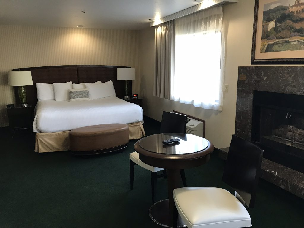 View of hotel room