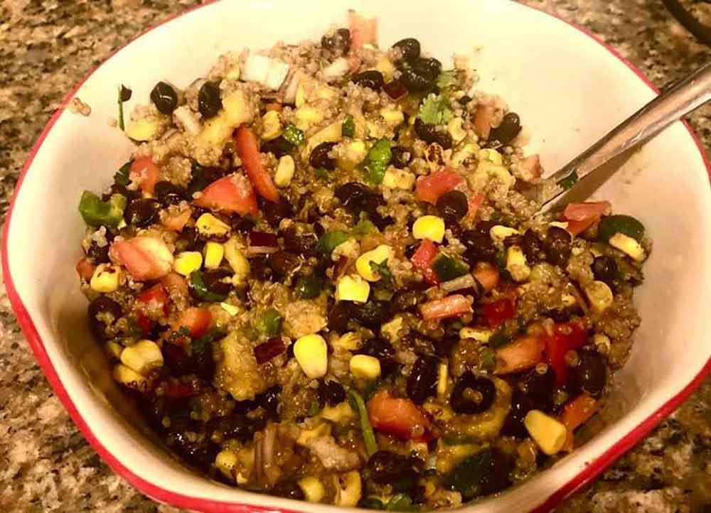 Black bean quinoa mango salad