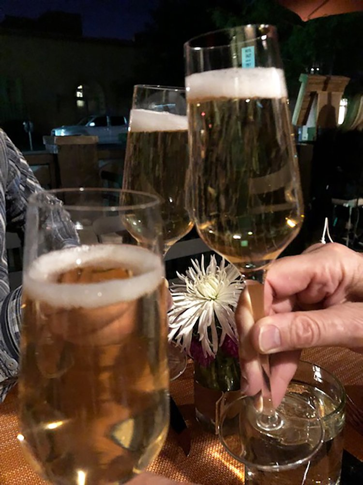 Glasses Gruet Sparkling Wine (C) Cori Solomon