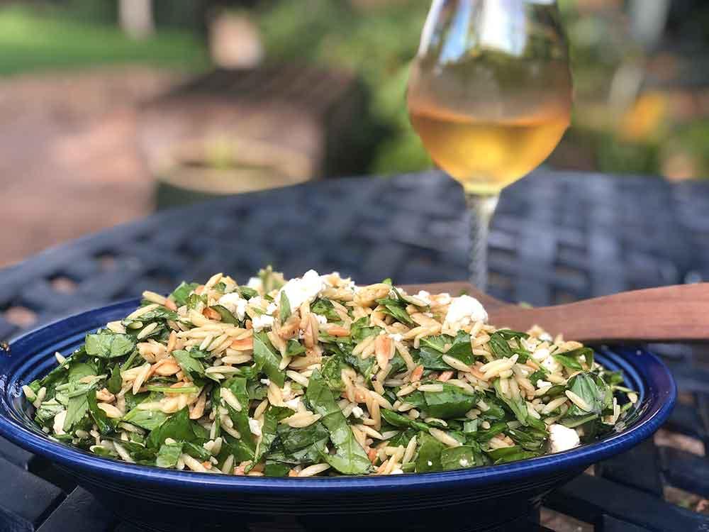 Basil and Feta Orzo Salad