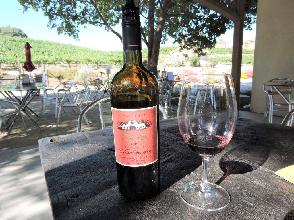 Bottle of wine at Cass Winery