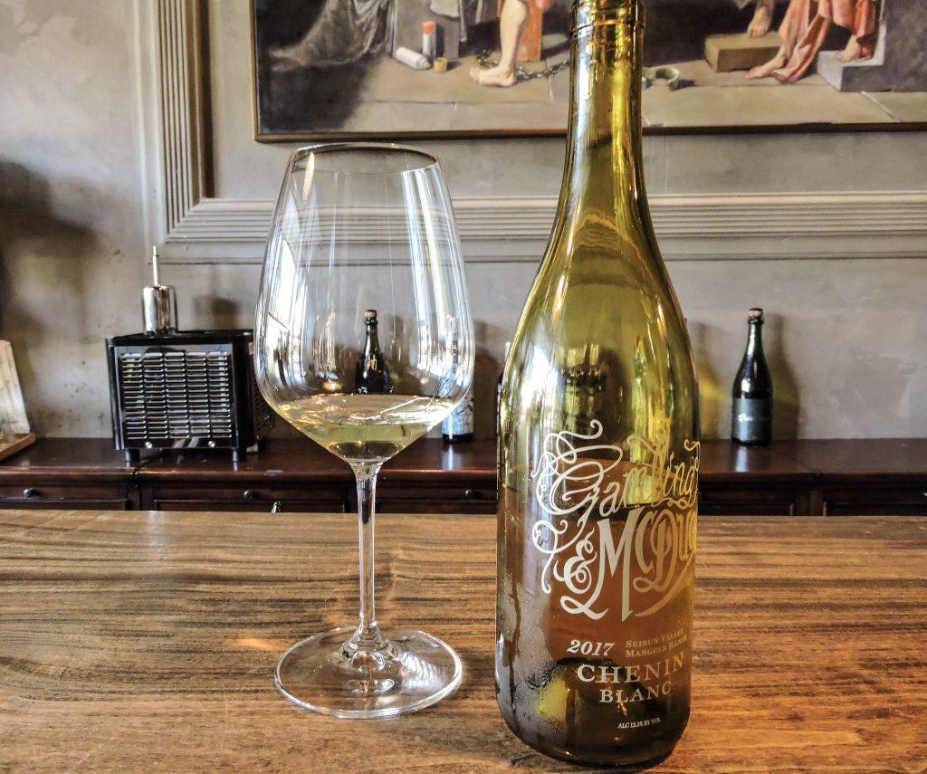 Bottle and glass of Chenin Blanc