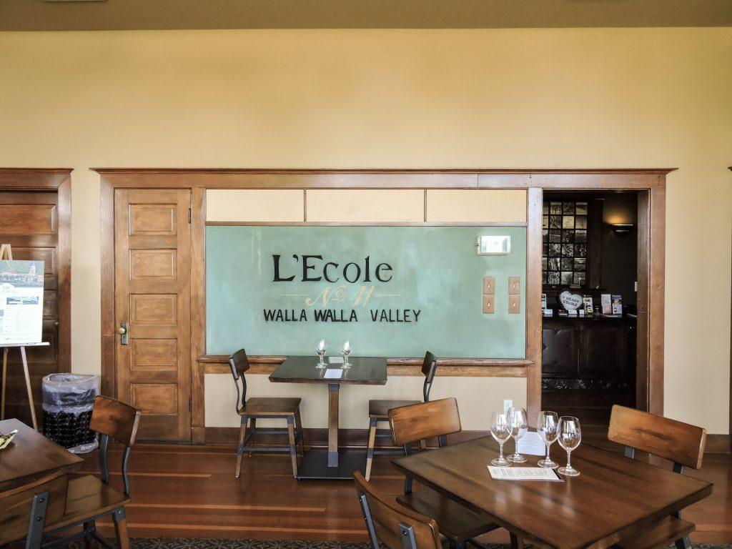 Walla Walla L'Ecole Winery tasting room